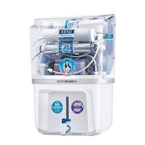 KENT Grand+ 9-litres Wall Mountable RO + UV + UF + TDS Controller (White) 20-Ltr/hr Water Purifier