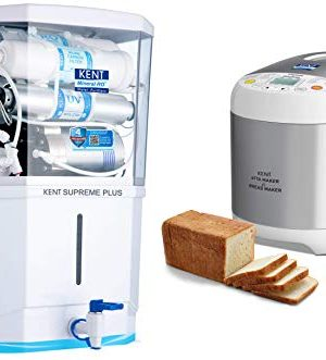 KENT Supreme Plus 2020 (11112), Zero Water Wastage, Wall Mountable, RO + UV + UF + TDS Control + UV in Tank, 8 L Tank, White, 20 LPH Water Purifier & KENT – 16010 Atta and Bread Maker 550-W